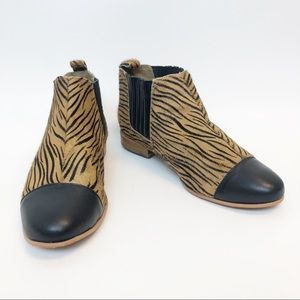 Matiko Calfskin Animal Print Ankle Bootie